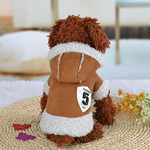 Puppy Knitted 5 Puppy Winter Vest Jacket Jumper 11 Coffee Sweatshirts XS Clothes Father S Hoodie Dog AU Christmas Sweater Dress Pet dF0dqa