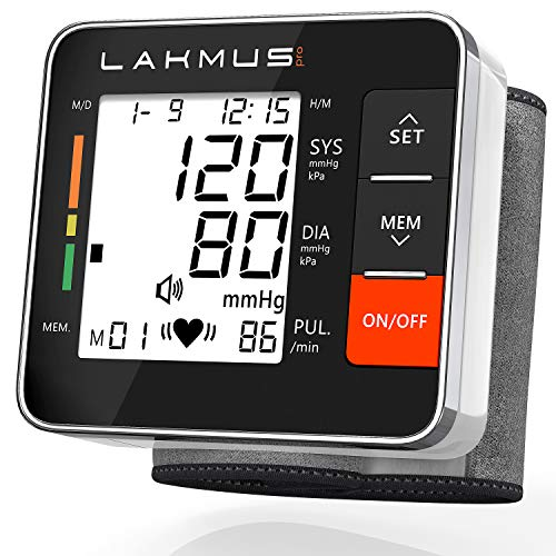 Blood Pressure Monitor Cuff Wrist - Digital BP Monitor FDA Approved - Fully Automatic Accurate Wrist Blood Pressure Monitor for Home - Wrist BP Machine with Large LCD Display Carrying Case