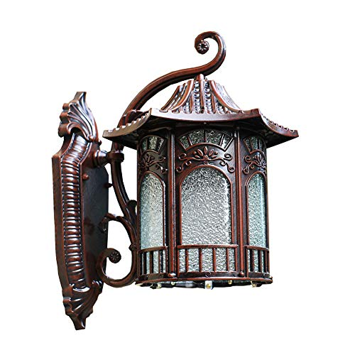LiuXia Wall Lamps & Sconces Wall lamp Outdoor lamp Chinese Retro Garden lamp Villa Lighting Waterproof Rust-Proof Garden Wall lamp Door ()