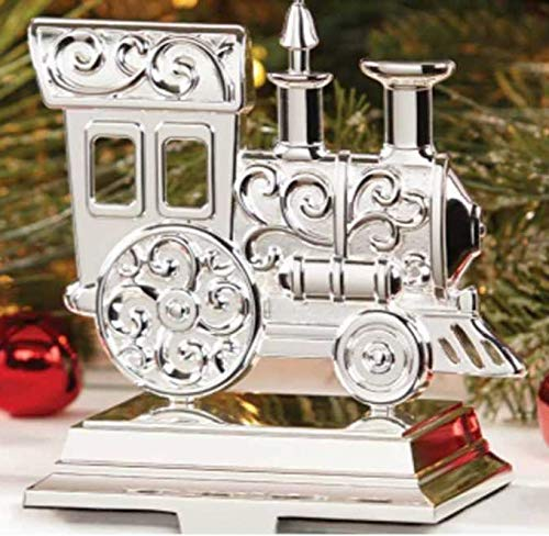 Lenox Christmas Silver Train Stocking Holder New in box Silver plated metal. Heavy ()
