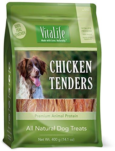 VitaLife Jerky Dog Treats - Natural, Grain Free, Chicken Tenders,14.1 oz by VitaLife