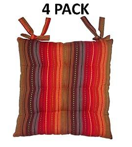 Amazon Com Cotton Craft 4 Pack Red Multi Salsa Stripe