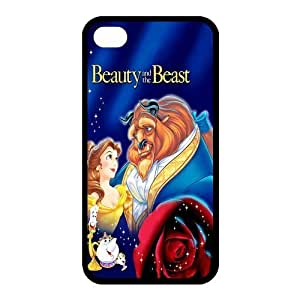 Custom Beauty And Beast Back Cover Case for iphone 4,4S JN4S-793