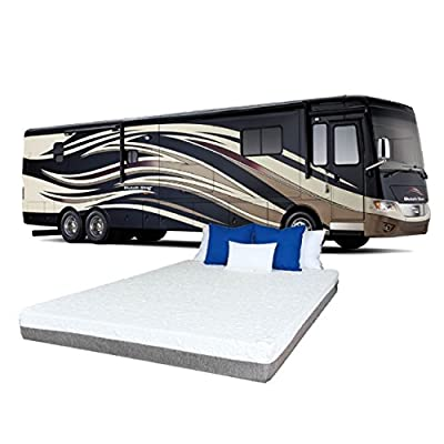 """TRAVEL HAPPY WITH A 10 INCH NARROW KING (72"""" x 80"""" Inches) Cool Sleep Gel Memory Foam Mattress with Premium Textured 8-Way Stretch Cover for Campers, Rv's and Trailers MADE IN THE USA"""