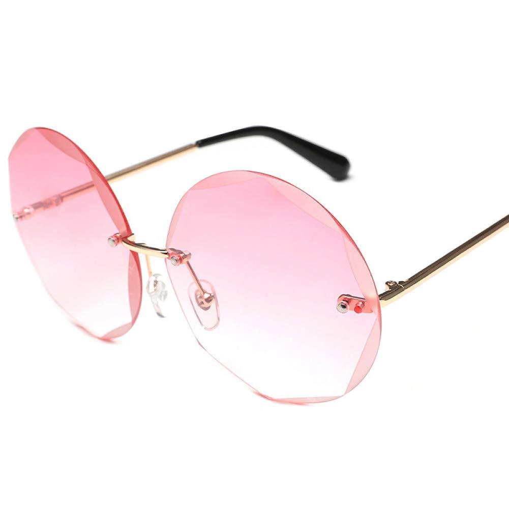 ZRTYJ Gafas de Sol de Corte Redondo sin Montura Gafas de Sol ...