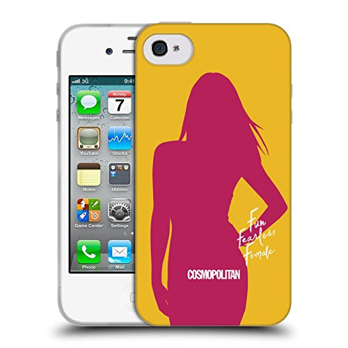 Official Cosmopolitan Cover Girl 1 Fun Fearless Female Soft Gel Case for Apple iPhone 4 / 4S