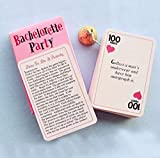 Pack Of 24 Naughty Bachelorette Party Dare Card Game - Funny Bridal Shower Sash Veil Ballon Party Decorations Kit Engagement Supplies Wedding Favors Photo She Said Yas Forever Miss To Mrs. Banner Gift