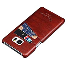 [Sumsung Galaxy Note 5 case, 5.7Inch]Franterd®Luxury Leather Card Slot Shell
