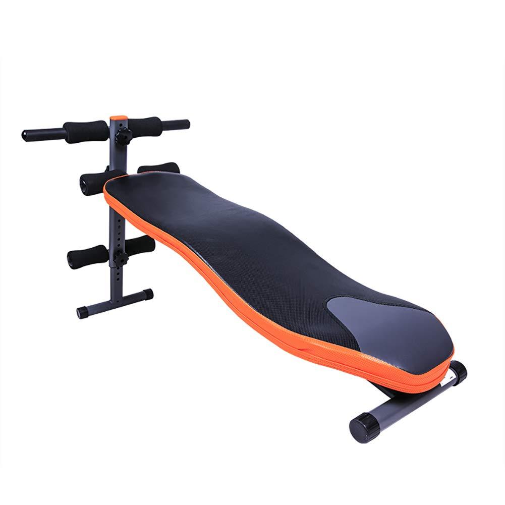 HECHEN Multifunktionales S-Typ-Supine-Board-Männliche Sport-Fitnessgeräte Heim-Hantelbank Bauchpappe, Push-Up-Stange, Atmungsaktives Leder, Schraubbeschläge