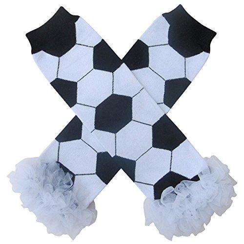 Super Sports Star - Leg Warmers - One Size - Baby, Toddler, Boy, Girl (Chiffon - Soccer)