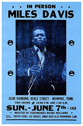 Jazz Concert Poster - Miles Davis Concert Poster, Memphis, Tennessee