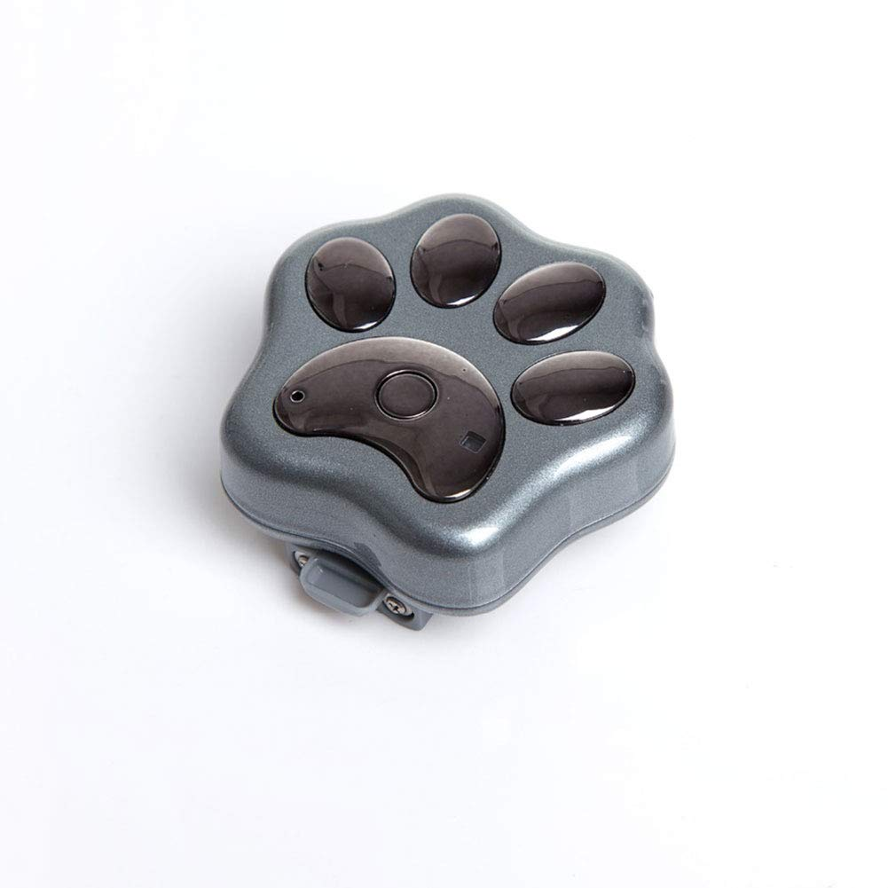 Grey XDYFF GPS Pet Tracker & Dog Activity Monitor Geo-fencing with alert messages, Location history and much more. English Support