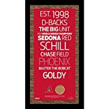 Arizona Diamondbacks Subway Sign Wall Art 9.5 Inch X 19 Inch Frame With Authentic Dirt From Chase Field.