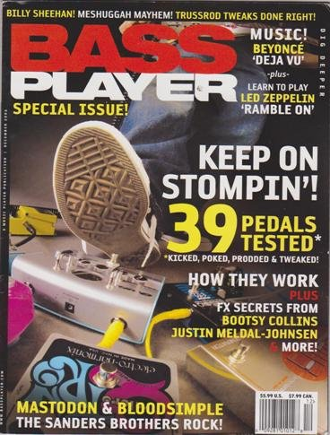Bass Player Magazine (December 2006) (Keep On Stompin' + Billy Sheehan + Mastodon & - Stompin Bass