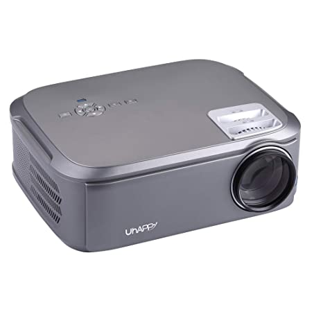 htfrgeds Projector, Mini Projector 3500 Lumens Portable Video ...