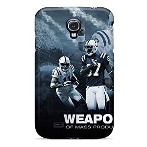 Durable Hard Phone Cases For Samsung Galaxy S4 (iUg20484bLgm) Provide Private Custom Realistic Indianapolis Colts Pattern