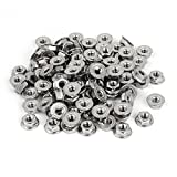uxcell 1/4 Inch 304 Stainless Steel Serrated Flange Hex Machine Screw Lock Nuts 100pcs
