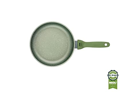RISOLI-Sartén 24 cm, Revestimiento Antiadherente, H20 DrGreen Induction Made In Italy