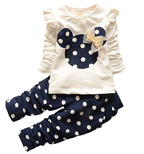 Eden Babe New Kids Clothes Girl Baby Rabbit Sleeve Cotton Clothing(19-24Months)