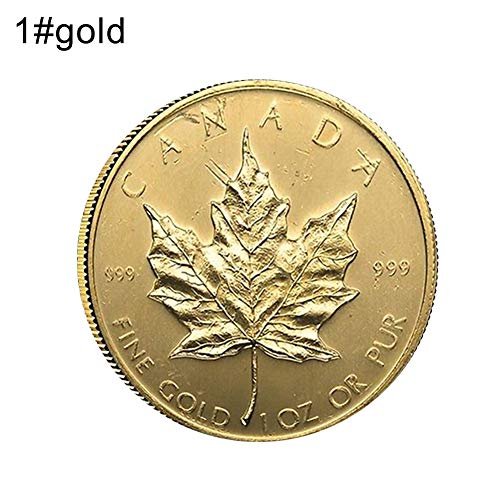 ian Maple Leaf 40th Anniversary Commemorative Coin Souvenir Collection Gift 1 Golden ()