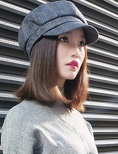 Spring Vintage Green green Winter ZYT Women's Striped Hat Fall Cotton Casual Trapper Gray Stylish Summer II6wz0Oq