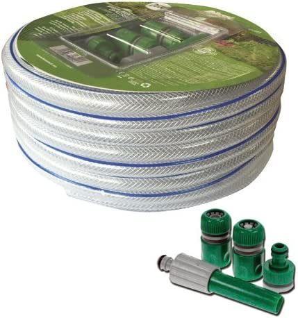Manguera de PVC flexible de 12mm de grosor para jardín, 25m de largo: Amazon.es: Jardín