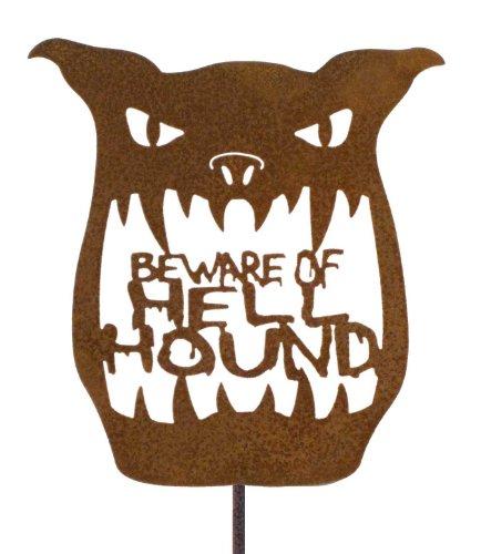 Beware of Hell Hound Steel Yard and Garden Sign ()