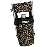 Crutcheze Leopard Crutch Bag, Pouch, Pocket, Tote Washable Designer Fashion O...
