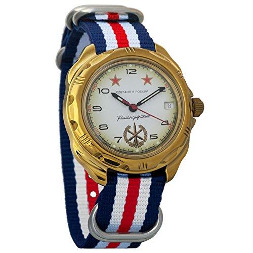 Vostok Komandirskie Commander Russian Army Mens Mechanical Military Wrist Watch #219075 (Vostok Mechanical Wrist Watch)