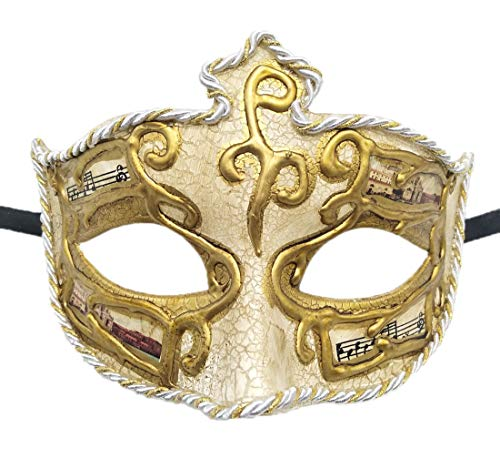 Biruil Masquerade Mask Venetian Costume Prom Party Mardi Gras Face Halloween Ball Mask (C White) ()