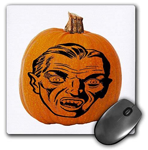 3dRose Sandy Mertens Halloween Food Designs - Jack o Lantern Vampire Face Halloween on Pumpkin, 3drsmm - MousePad (mp_290218_1) -