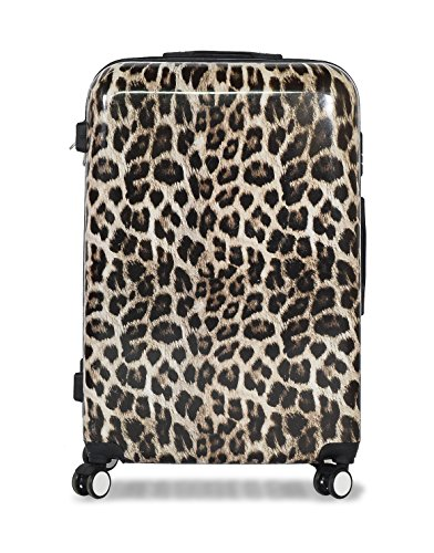 "28"" Leopard Lightweight 4 Wheel Spinner Hard Shell Suitcase Luggage Trolley Set Cabin Case Sets Travel Hand (28 inch, Leopard)"