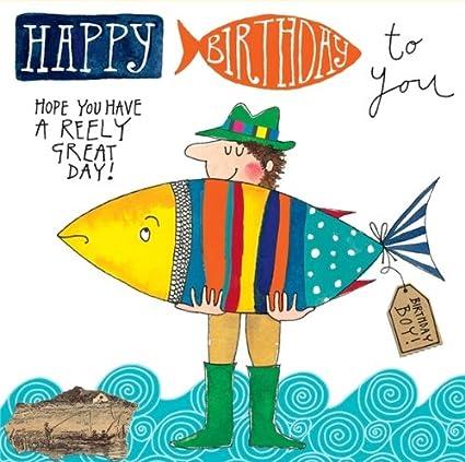 Big fish happy birthday card amazon office products bookmarktalkfo Gallery