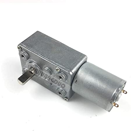 DC 12V 0.6 RPM High torque Turbo Electric Geared DC Motor Shaft  Low Speed GW370