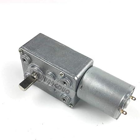 DC Motor GW370 12V 50RPM 370 Metal Reversible High Torque Turbo Worm Geared