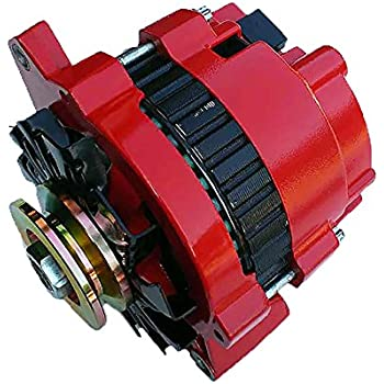 New Custom Built Hi Amp Hi Output 1 One Wire Red Alternator For GM Chevrolet 220 Amps Full Power, 150 Amps Idle