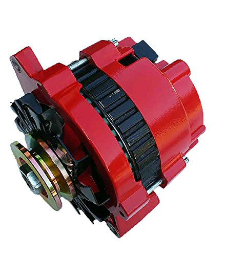 New Custom Built Hi Amp Hi Output 1 One Wire Red Alternator For GM Chevrolet 220 Amps Full Power, 150 Amps Idle Gm High Output Alternator