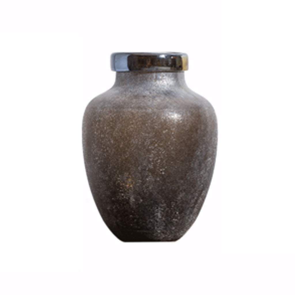 クリエイティブ花瓶家の装飾ドライフラワー模造磁器ガラス花瓶レトロ花飾り LQX B07R298HC9