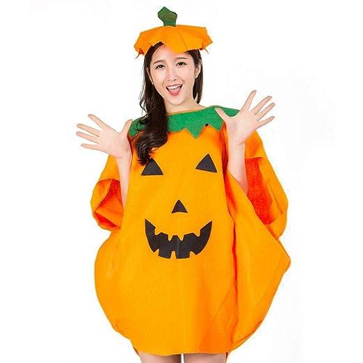 Cokeymove Disfraz de Calabaza de Halloween para niños Adultos Ropa ...