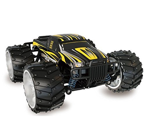 STOTOY Electric RC Car - Offroad Remote Control Cars - RTR RC Buggy RC Monster Truck 1:16 4WD 2.4Ghz High Speed(Yellow)