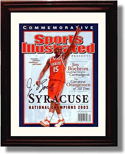 Framed Syracuse Jim Boeheim 2003 Sports Illustrated Championship Autograph Replica Print