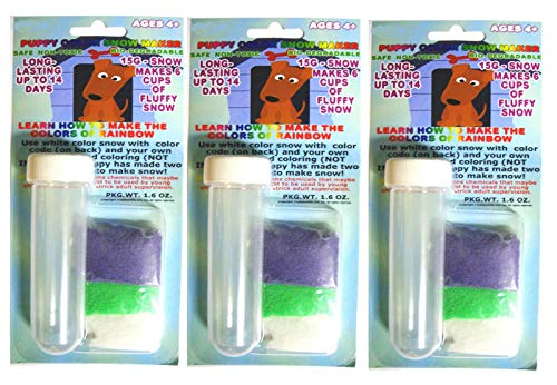 Science Gone Fun 3 Pack Bundle - Artificial Snow Colorful Instant-Snow Powder with Test Tube