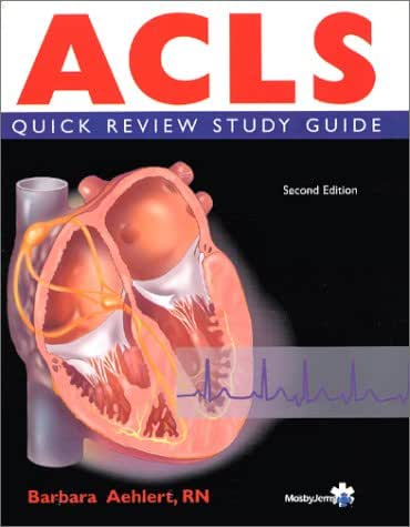 ACLS Quick Review Text and Study Cards Package