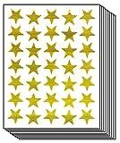 Star School Reward Gold Stickers Kid (10 Sheets)