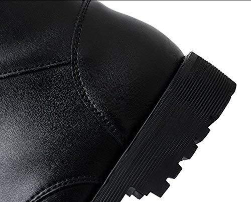 Taille Fuxitoggo coloré Noir Chaudes De Chaudes Hommes Et Bottes Peluche Moto dérapantes 36 Pour En 41 Anti F6Fqr