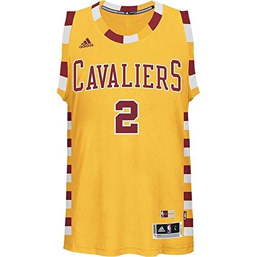 Kyrie Irving Cleveland Cavaliers Adidas Hardwood Classics Nights Swingman Jersey (Gold) Medium