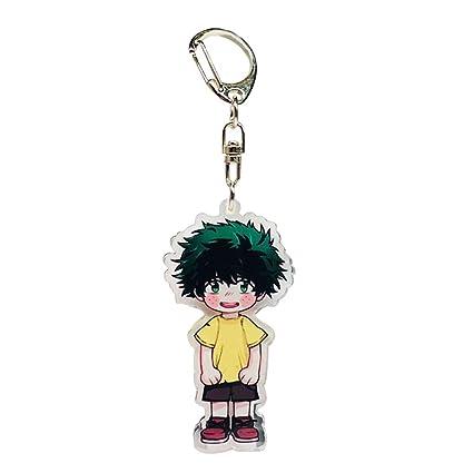 Wernerk My Hero Academia Todoroki Izuku Midoriya Deku Bakugou Katsuki Cute Key Chain 1pcs H09