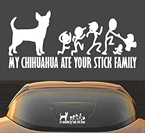 Chihuahua Family High Quality Vinyl Decal Dog Sticker for Cars Laptops Wall Mugs