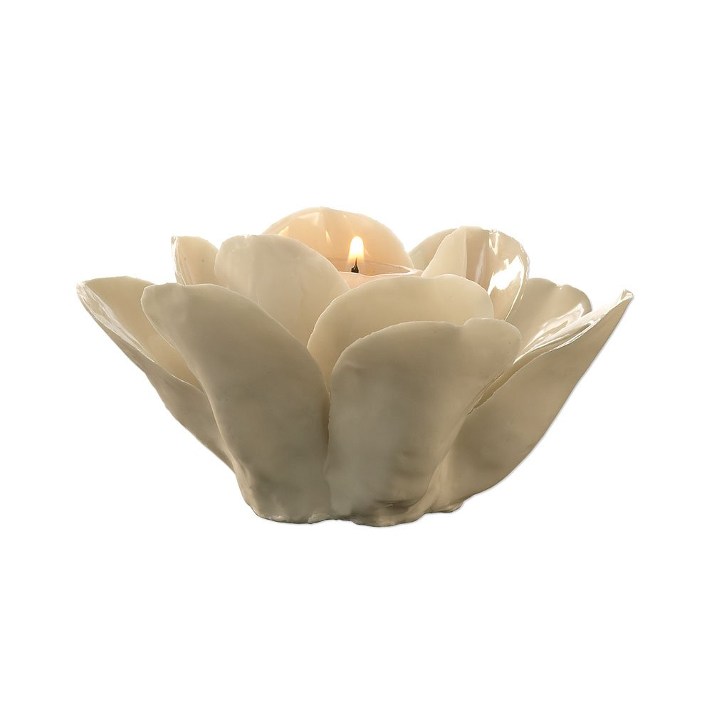 Christmas Tablescape Décor - La Vie en Blanc Rose porcelain tealight candle holder