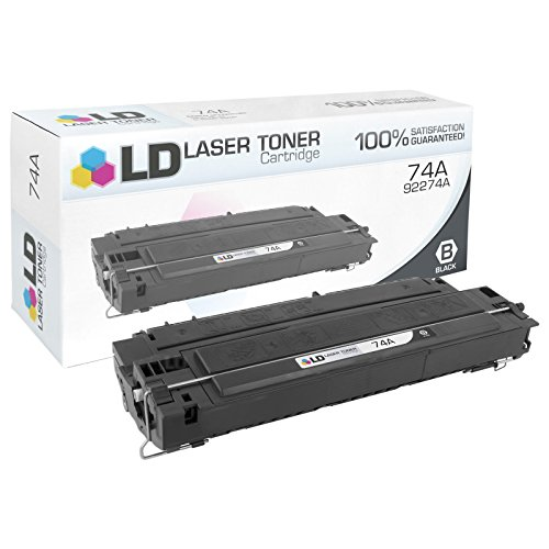 LD Remanufactured Replacement for HP 74A / 92274A Black Toner Cartridge for LaserJet 4L, 4mL, 4mp, and 4p Printers (4p 4 Mp Printer)
